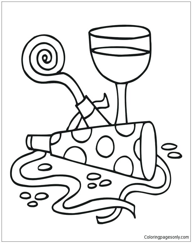 613x777 Wine Glass Coloring Page Pair Of Cocktail Coloring Page Coloring