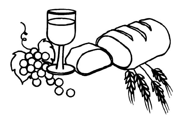 600x404 Wine And Bread Coloring Pages Best Place To Color