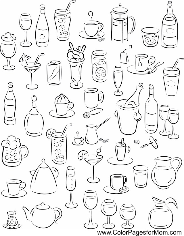 640x818 Wine Coloring Page Wines, Doodles And Journal