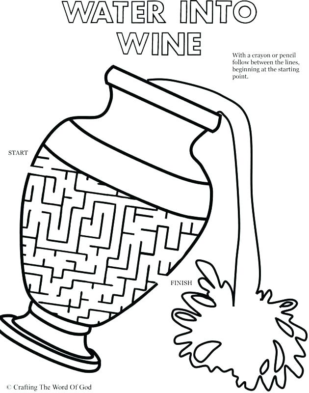 630x800 Coloring Pages For Adults Online Follow Page Turns Water Into Wine