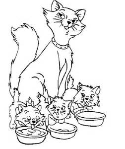 252x300 Cat Family Coloring Pages