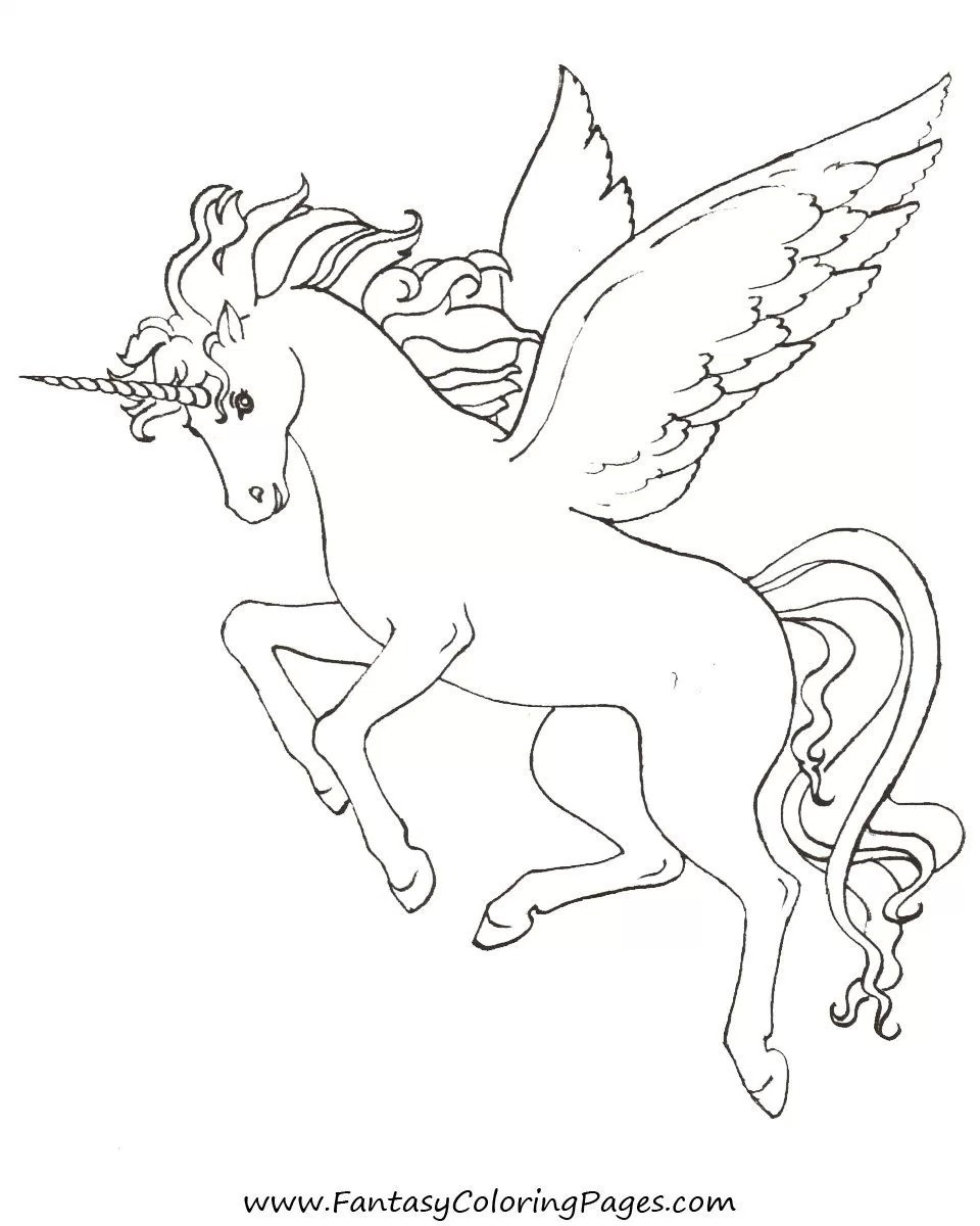 960x1200 Coloring Pages Animals Winged Unicorn Free In Stuning