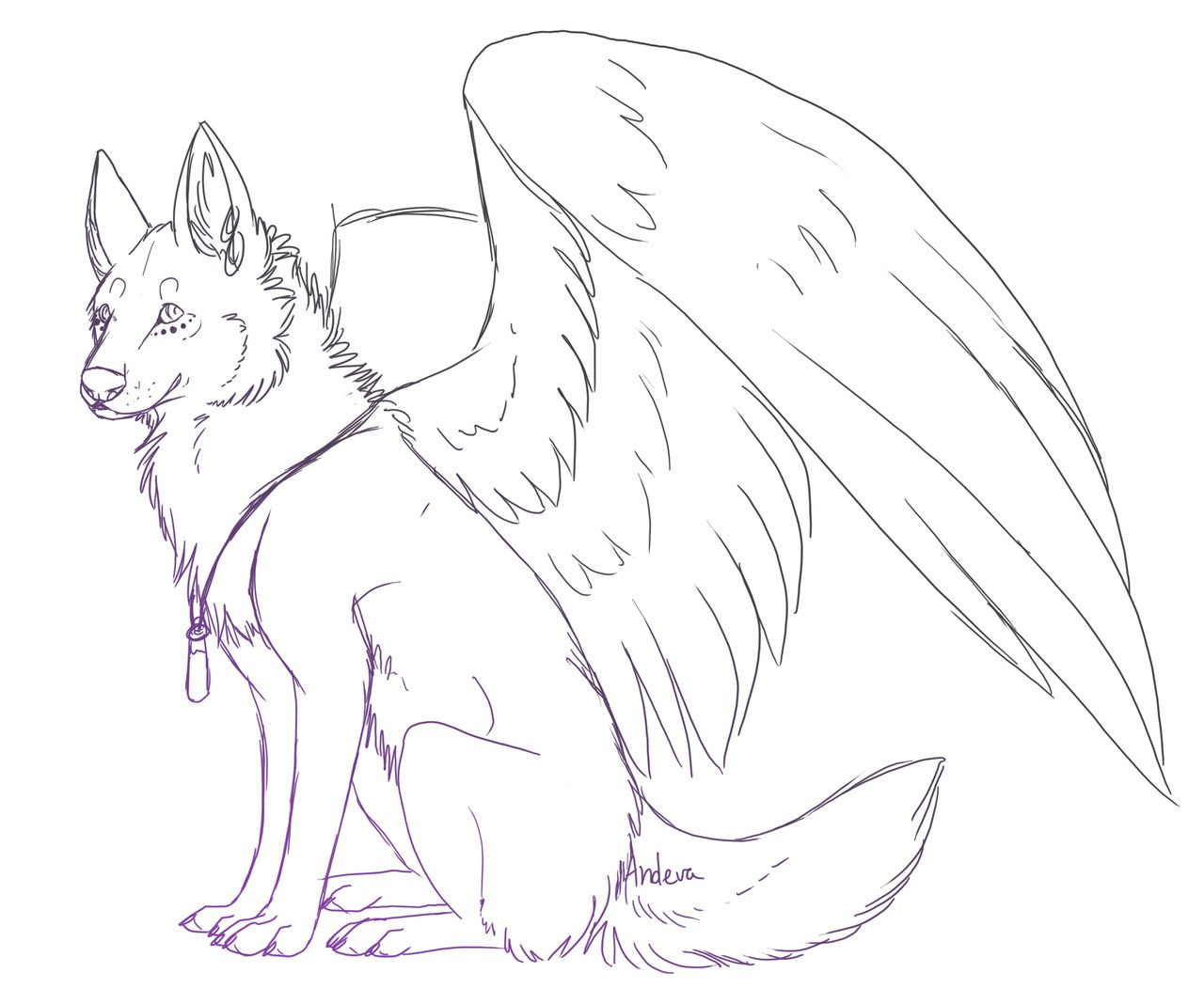 1280x1068 Shocking Drawn Howling Wolf Wing Coloring Page Pencil And In Color