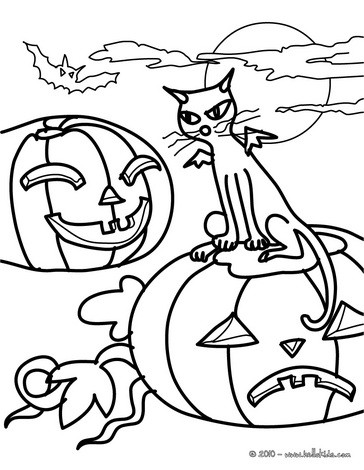 364x470 Black Cats Coloring Pages