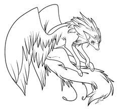 236x216 Winged Wolf Coloring Pages Coloring Pages Wolf