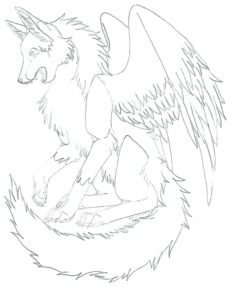 736x916 Winged Wolf Coloring Pages Wolf Color Page Kids Coloring Winged