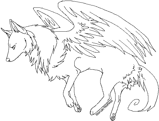 552x421 Wolf Coloring Sheet Winged Wolf Coloring Pages Coloringstar Eagles