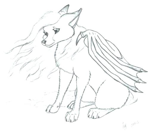 500x444 Cute Wolf Coloring Pages
