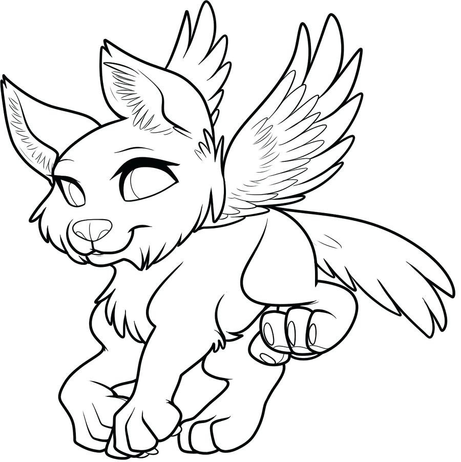 900x902 Printable Winged Wolf Coloring Pages Printable