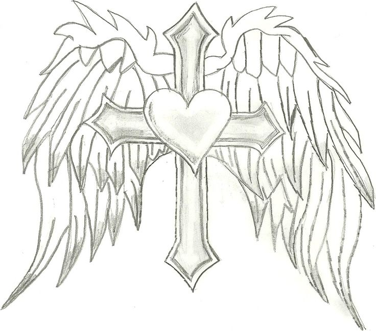 736x649 Cross With Wings Coloring Pages