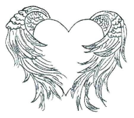 452x400 Hearts With Wings Coloring Pages Coloring Pages Hearts Coloring