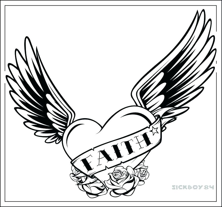 900x841 Hearts Wings Coloring Pages Free Coloring Pages Hearts