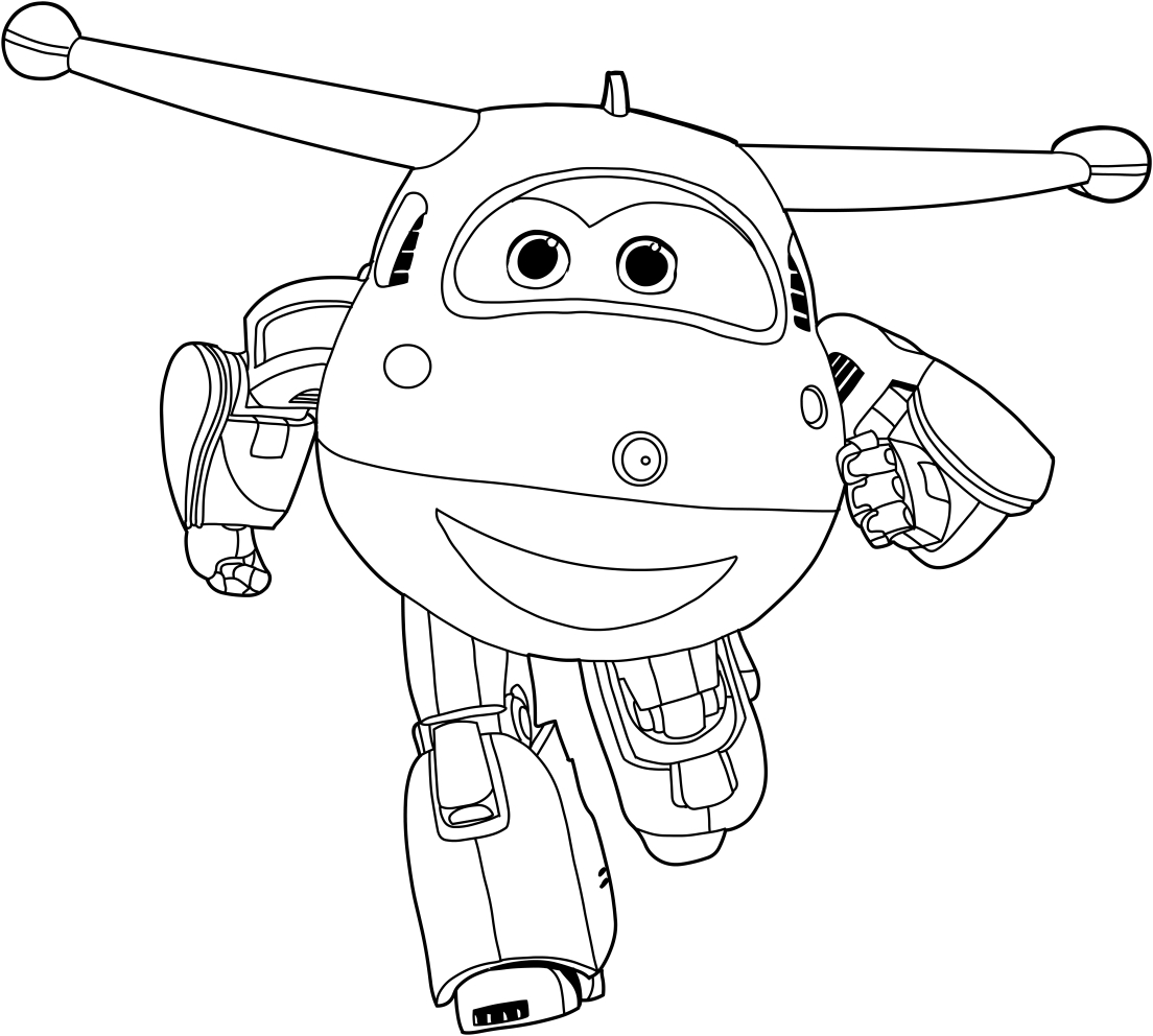 1104x992 Jett Of The Super Wings Coloring Pages