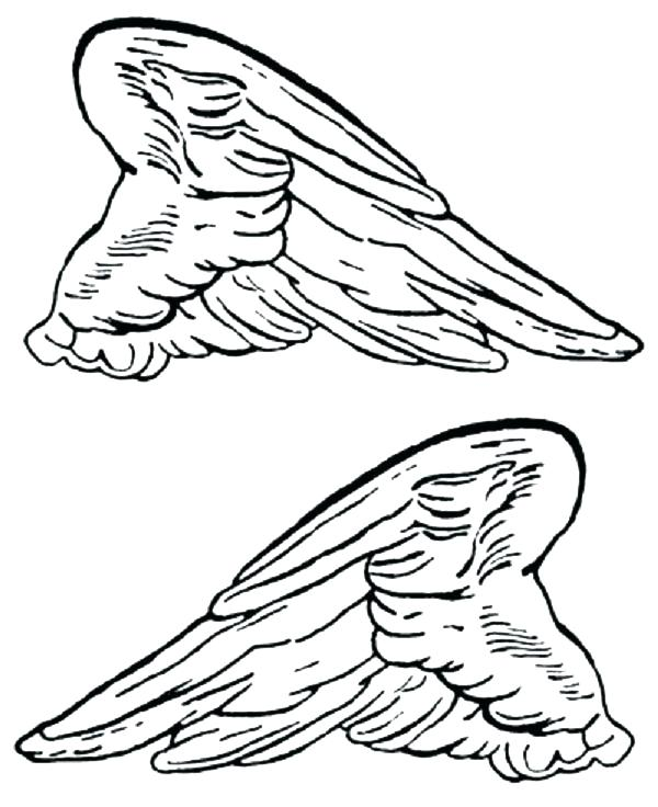 600x736 Angel Wings Coloring Pages Wing Coloring Pages Angel Wings