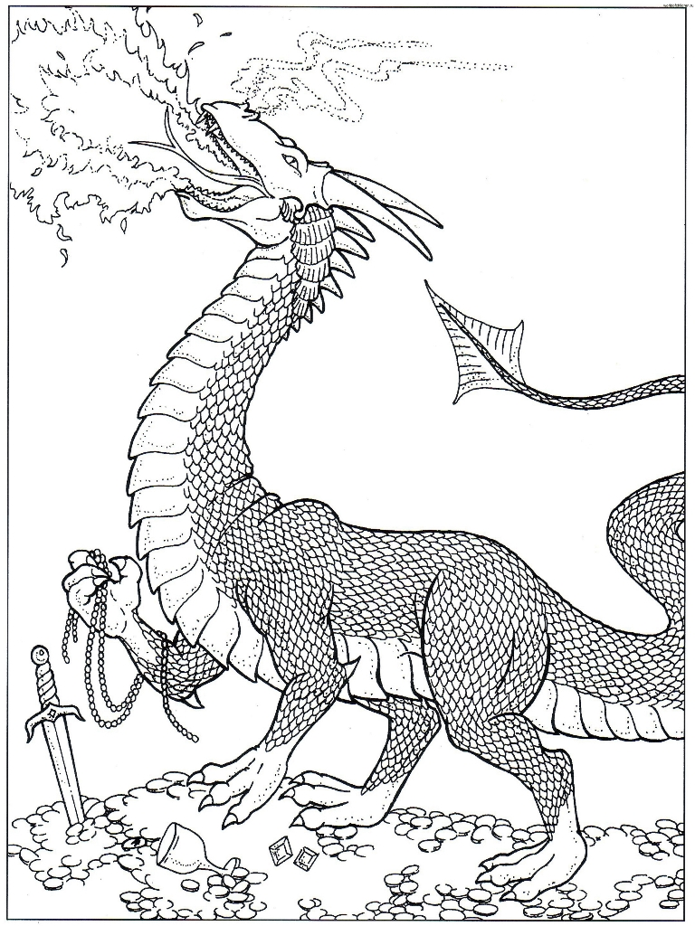768x1024 Fire Dragon Coloring Pages