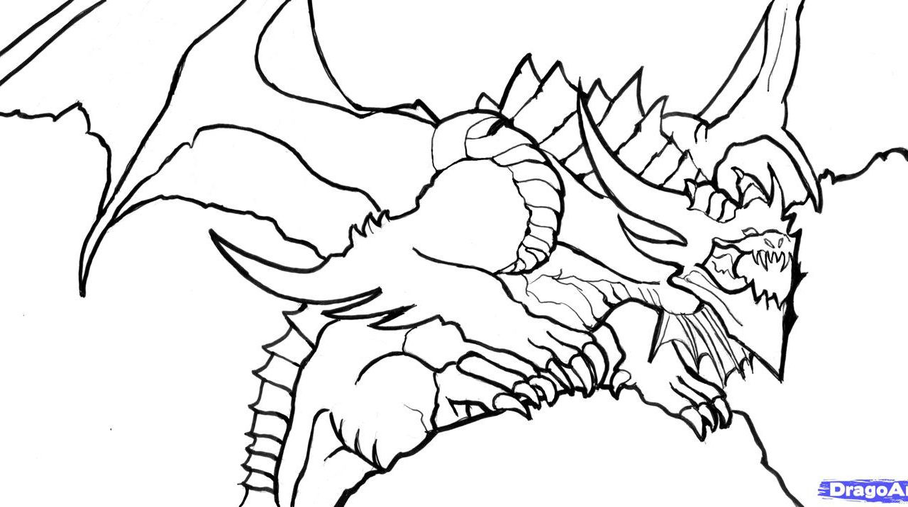 1280x716 Icewing Dragon From Wings Of Fire Coloring Page Free Printable