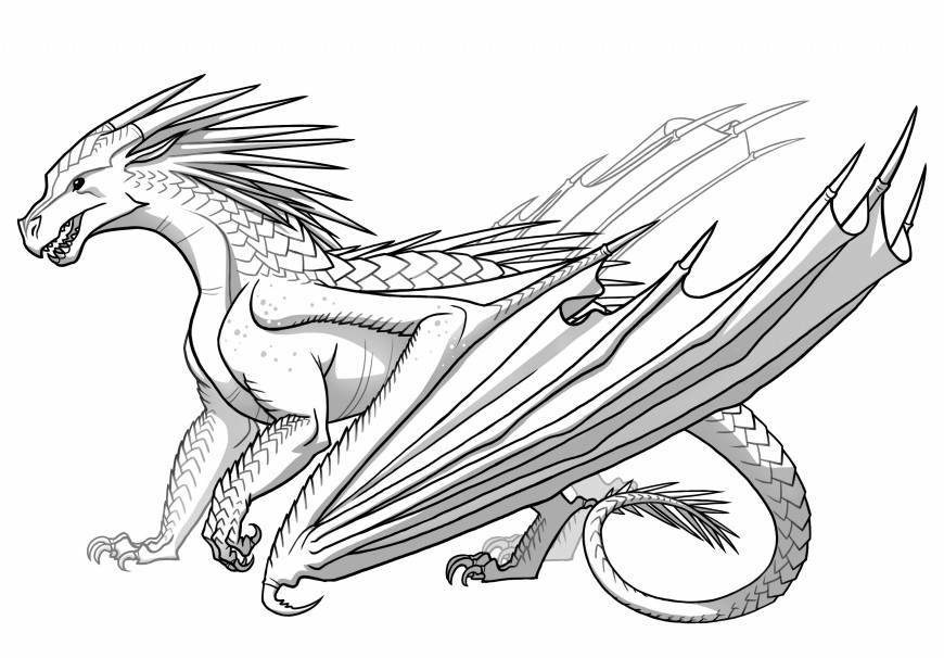 870x606 Icewing From Wings Of Fire Dragon