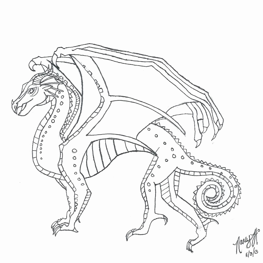 894x894 Printable Wings Fire Coloring Pages Free Download