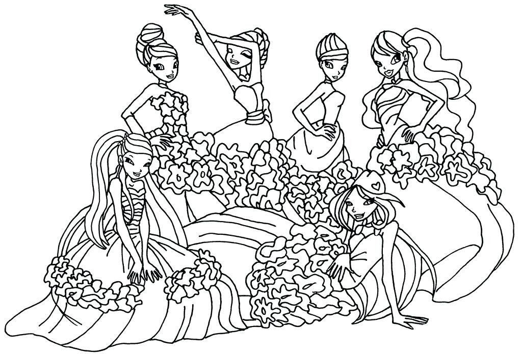 1024x695 The Winx Coloring Pages Winx Club Coloring Pages Sirenix Club