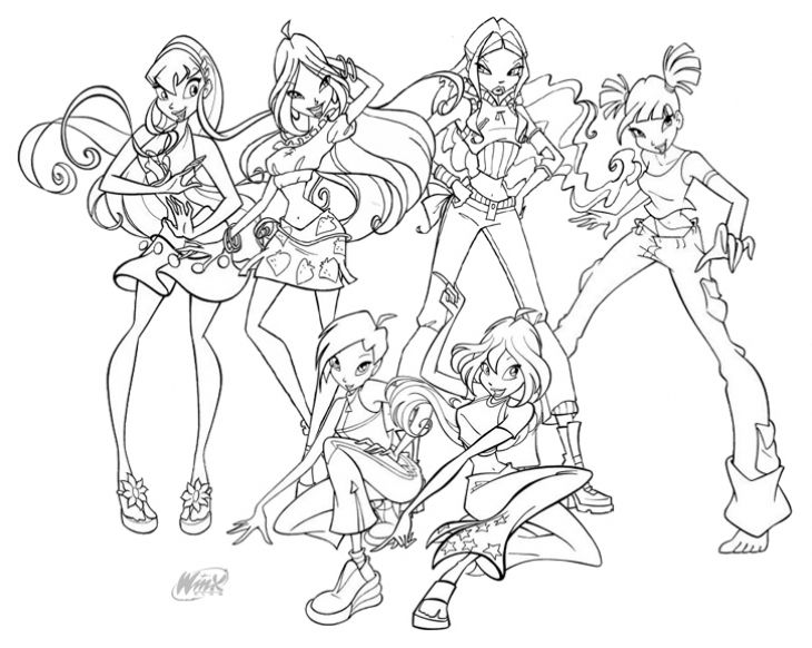 730x582 Winx Club Characters Coloring Page Girls Coloring Pages