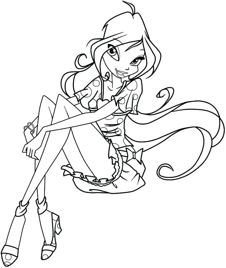 736x875 Winx Club Coloring Pages Club Coloring Pages Club Coloring Page
