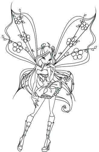 328x500 Winx Club Coloring Pages Plus Wallpaper Titled Club Coloring Pages