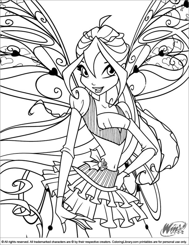 612x792 Winx Club Coloring Picture The Winx Club Coloring Pages At Winx