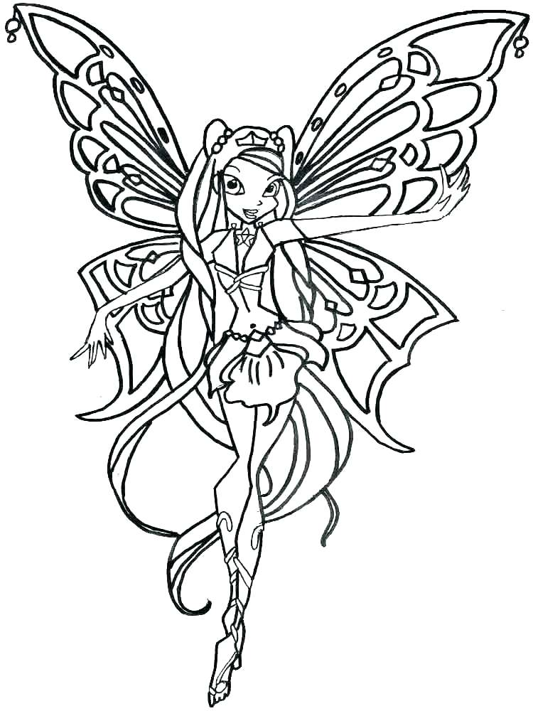 750x1000 Winx Club Coloring Pages