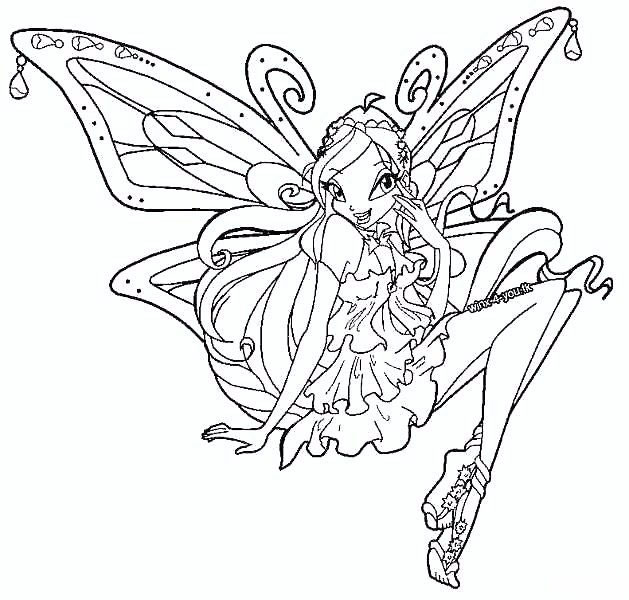 629x600 Kids Under Winx Club Coloring Pages