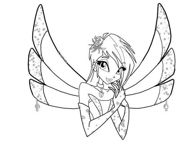 600x467 The Guardian Fairy Of Technology Winx Club Coloring Pages Batch