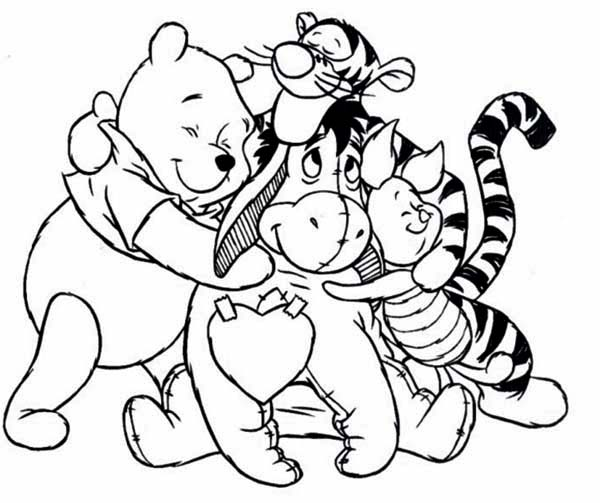 600x503 Pooh And Friends Coloring Pages Trend Winnie The Pooh Printable