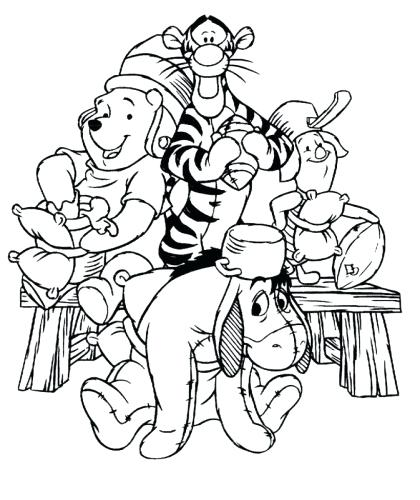 420x500 Winnie The Pooh And Friends Coloring Pages Coloring Pages Of Pooh