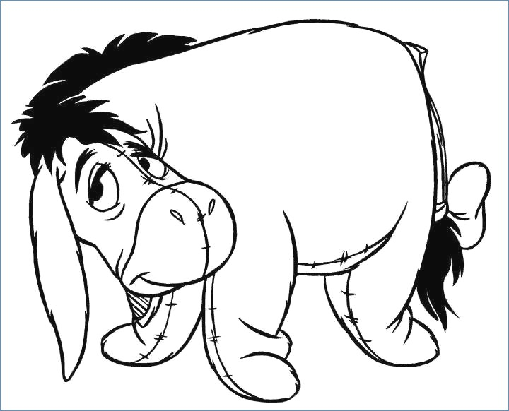 720x582 Winnie The Pooh And Tiger Christmas Coloring Page