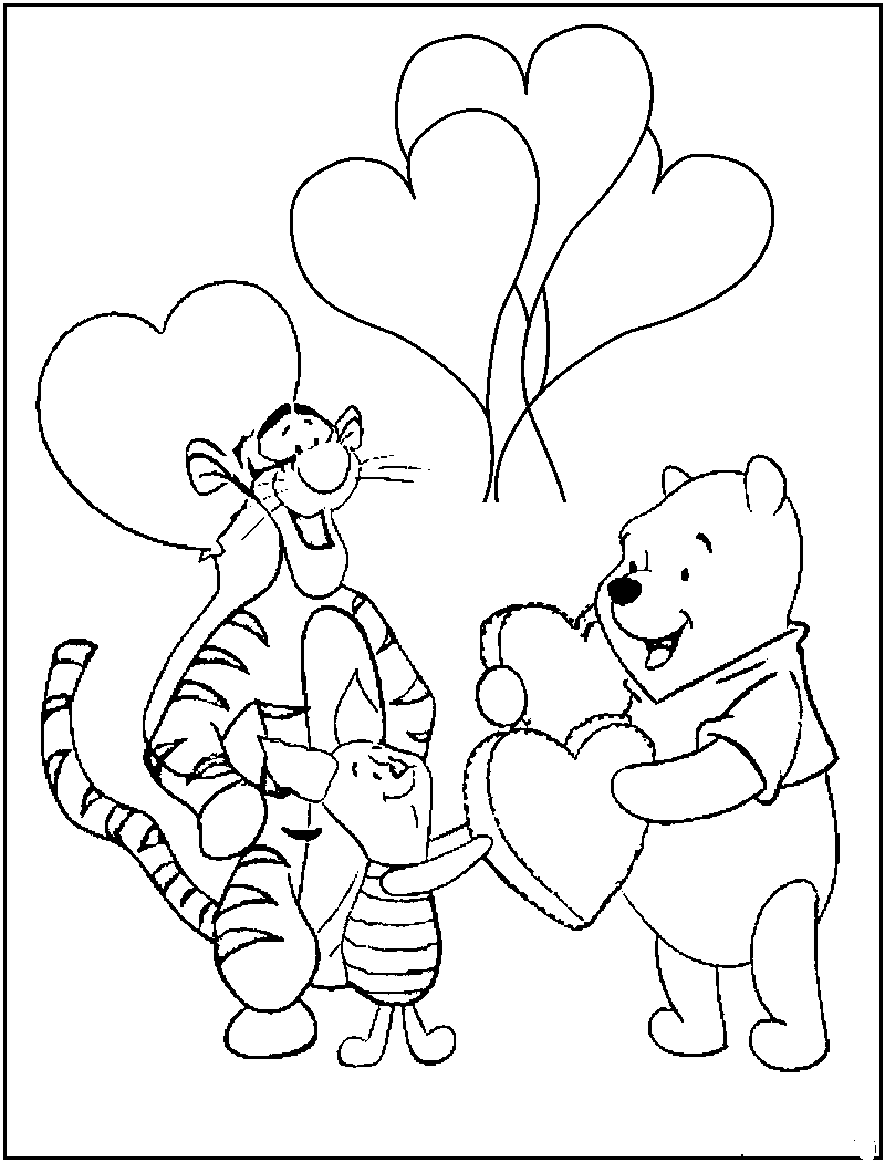 800x1050 Winnie The Pooh Coloring Pages The Sun Flower Pages