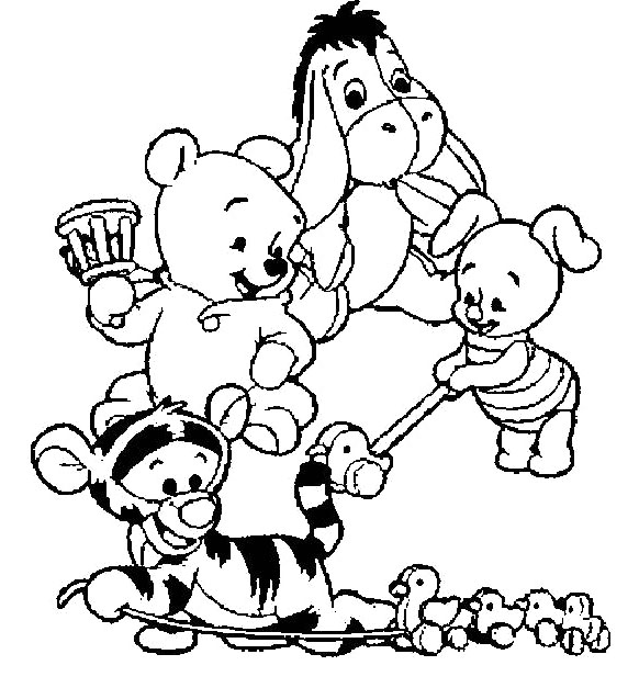 582x627 Baby Winnie The Pooh And Friends Clipart