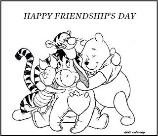 320x277 Printable Happy Friendship Day Winnie The Pooh And Friends