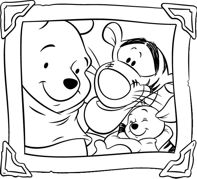 638x579 Best Photo Gallery Winnie The Pooh Coloring Pages Free
