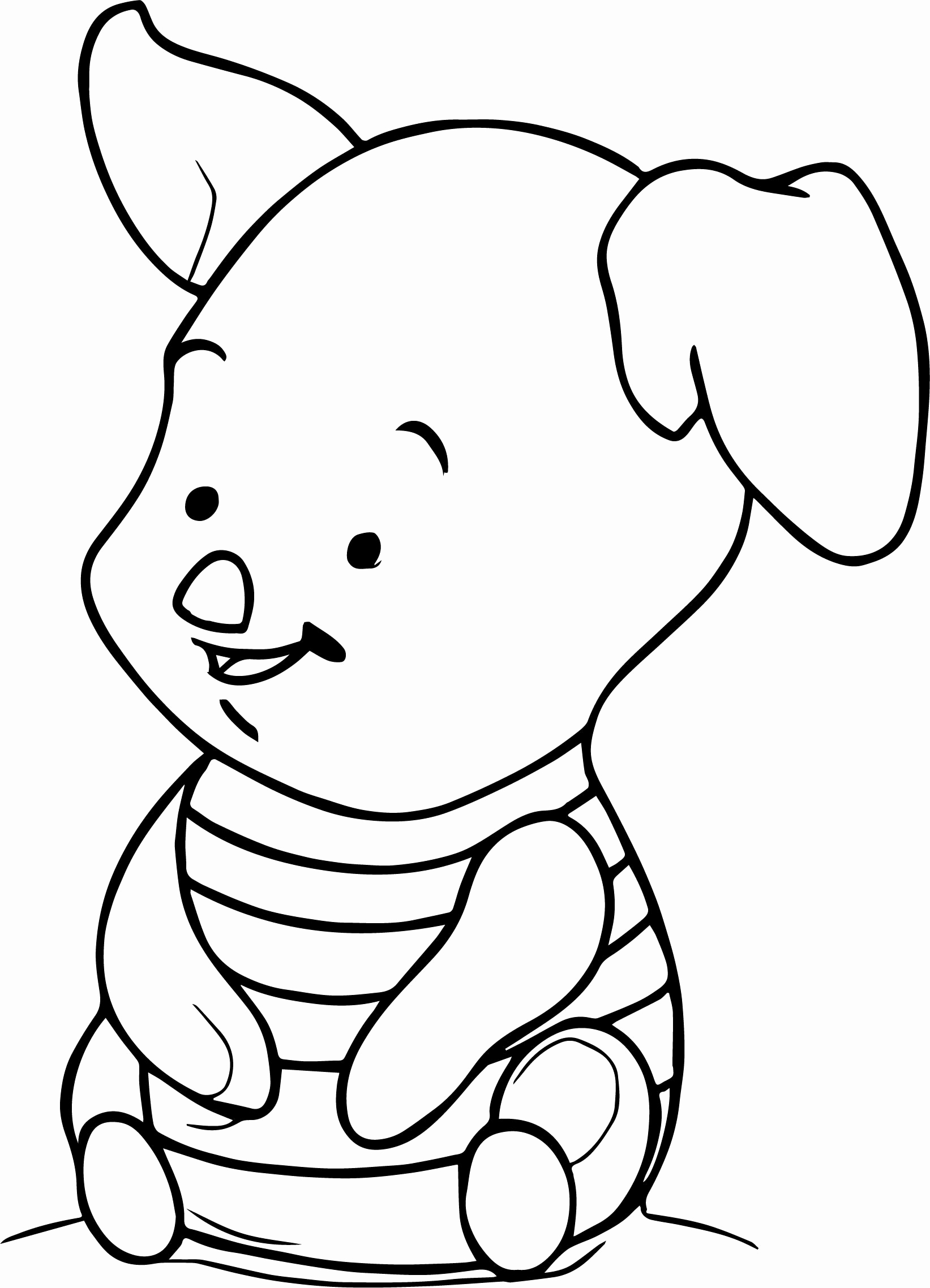 Winnie The Pooh And Piglet Coloring Pages