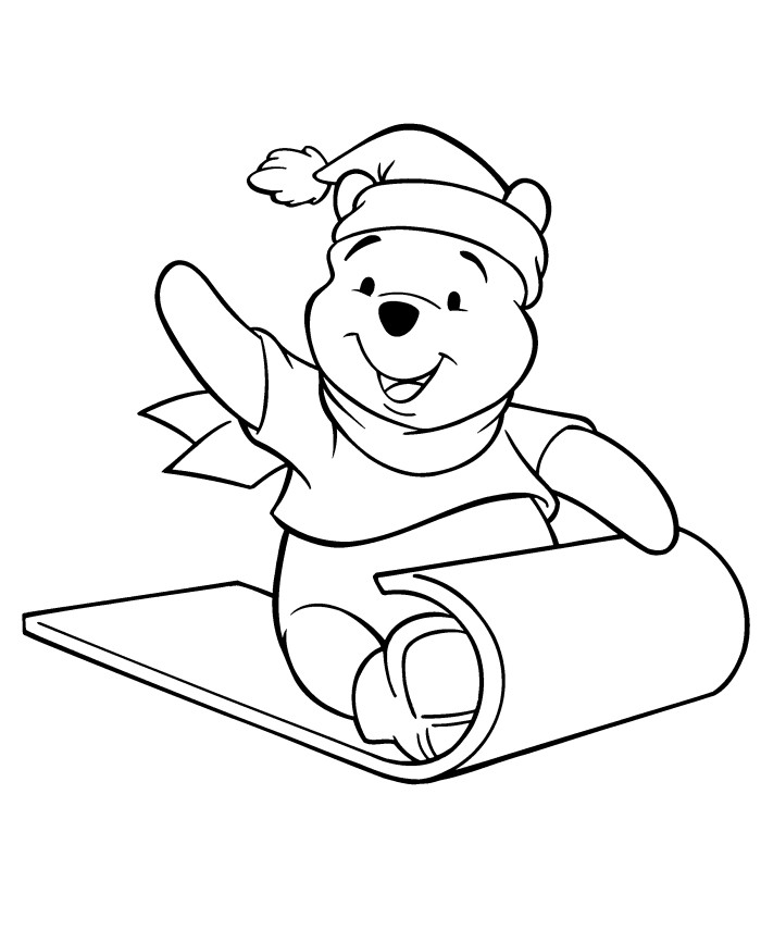 700x867 Pooh Bear Christmas Coloring Pages
