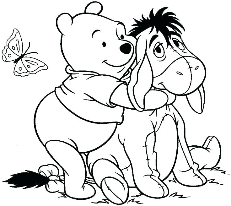 736x656 Winnie The Pooh Christmas Coloring Pages The Pooh Coloring Free