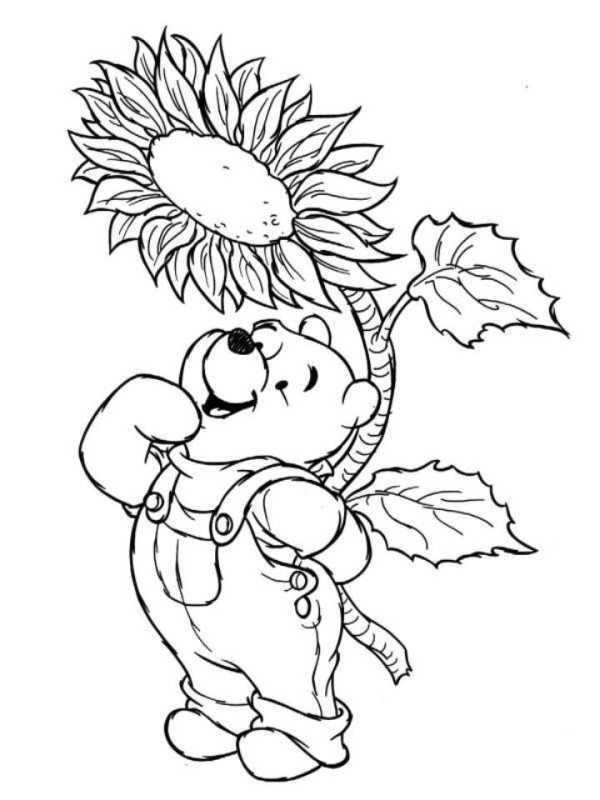 600x800 Winnie The Pooh Disney Merry Christmas Coloring Page