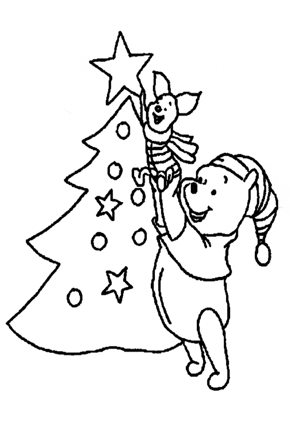 567x850 Christmas Coloring Pages Overview With Nice On Baby Winnie