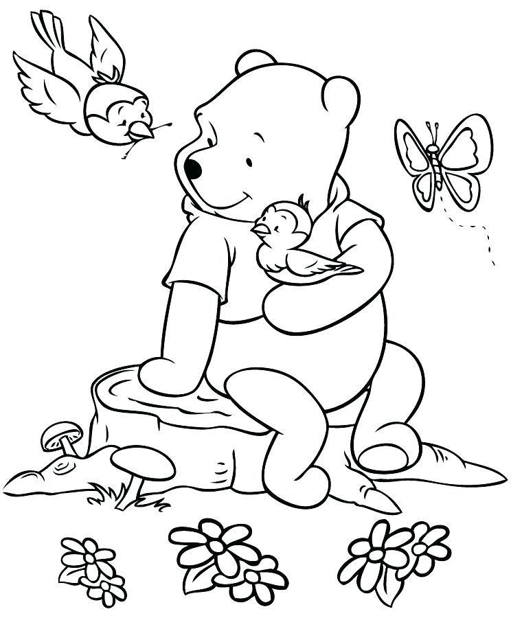 744x900 Coloring Winnie The Pooh Christmas Coloring Pages Free Printable