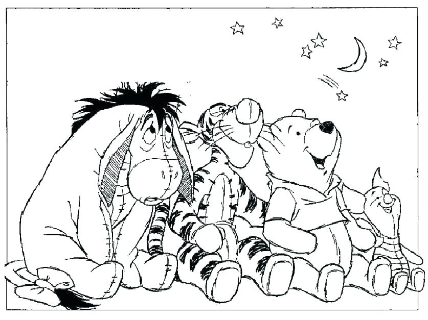 837x627 Free Printable Winnie Pooh Christmas Coloring Pages The Print