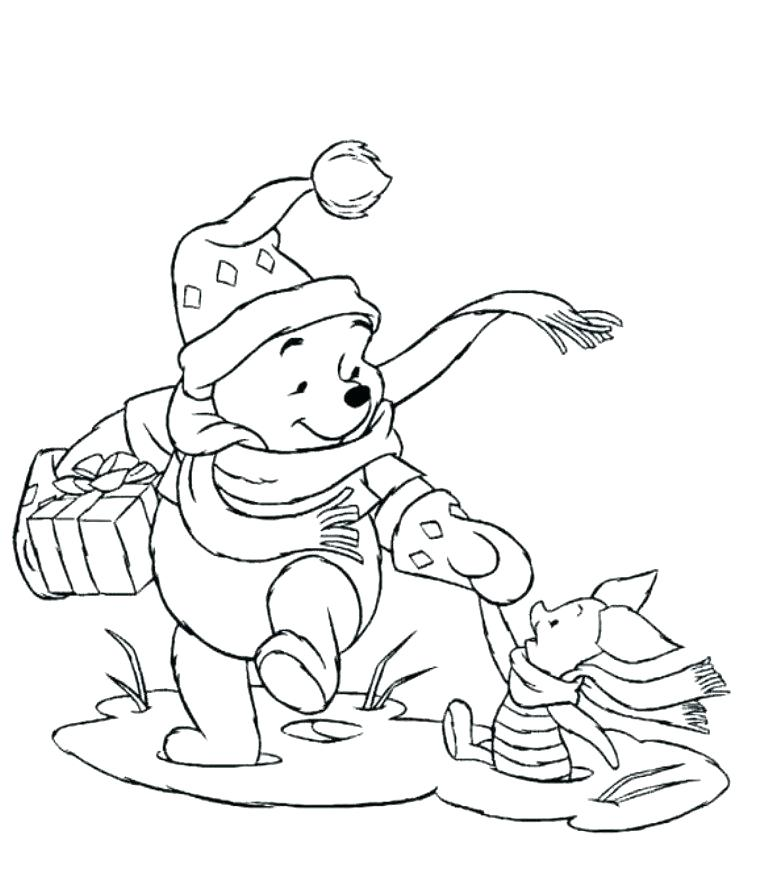 768x889 Winnie Pooh Coloring Pages Free Disney Winnie The Pooh Coloring