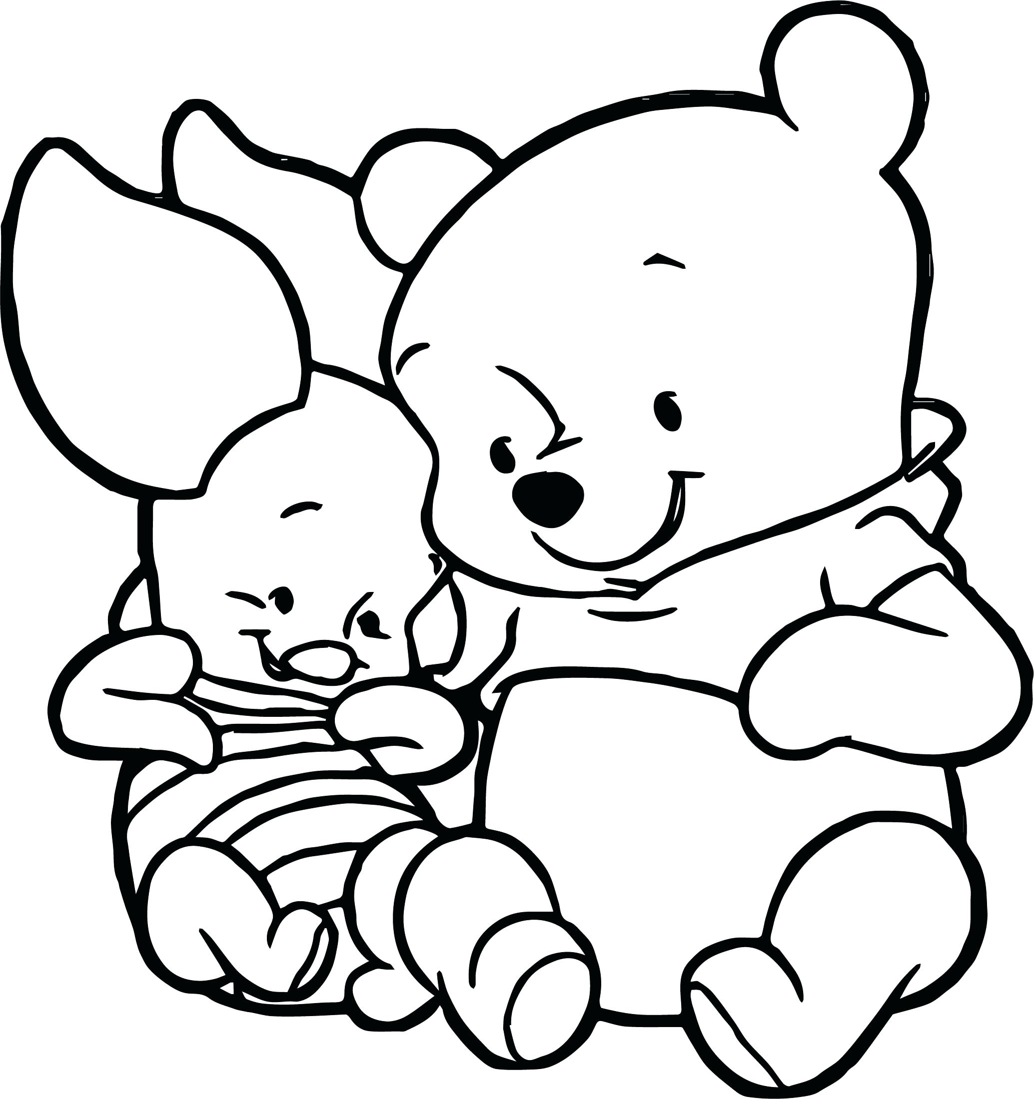 2069x2200 Baby Winnie The Pooh Coloring Pages Bloodbrothers Me In Cute
