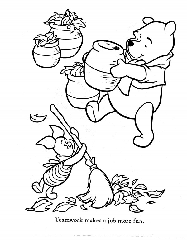 600x777 Winnie The Pooh Coloring Pages
