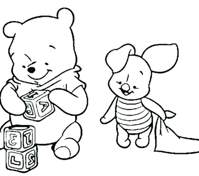 678x600 Winnie Pooh Coloring Pages