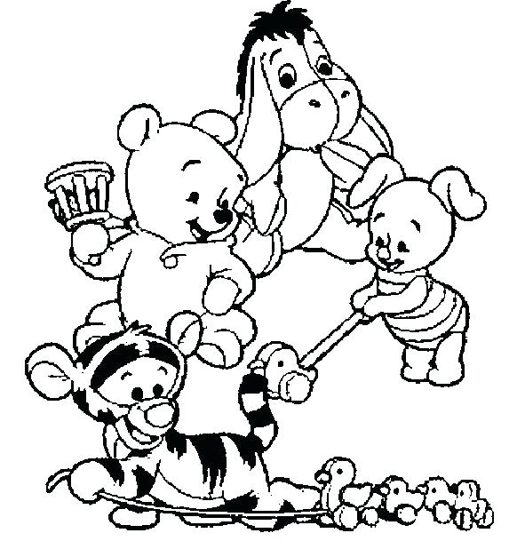 582x627 Cute Winnie The Pooh Coloring Pages Explore