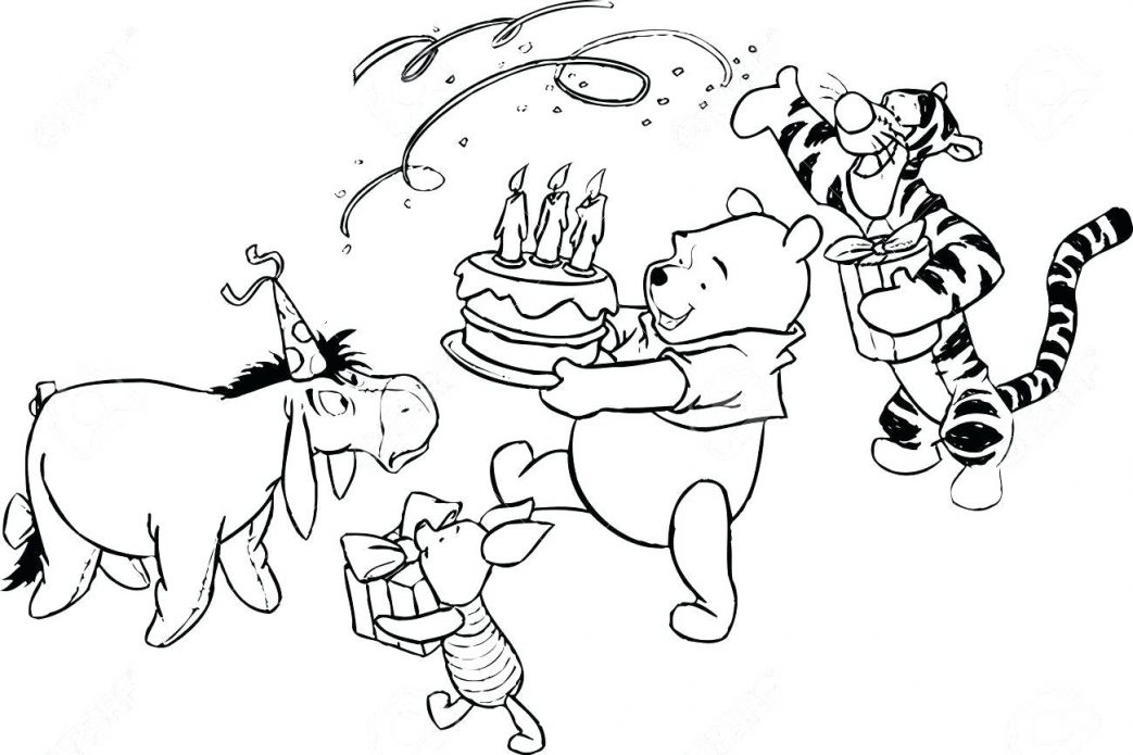 1043x695 Winnie The Pooh Coloring Book Free Download Pages Fish Printable